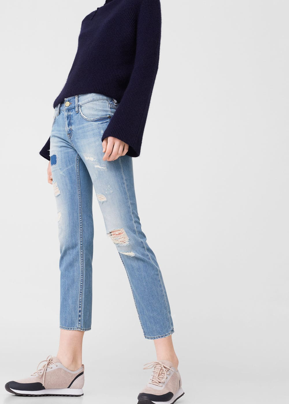 Jean relaxed crop cigar | MANGO