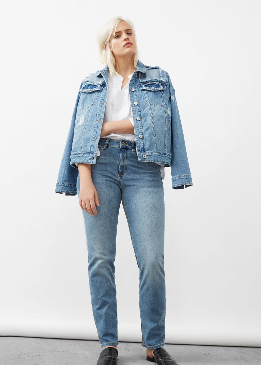 Straight-fit theresa jeans | VIOLETA BY MANGO