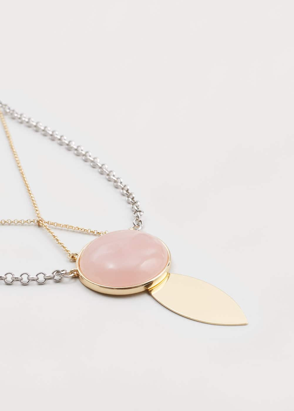 Stone double necklace | MANGO