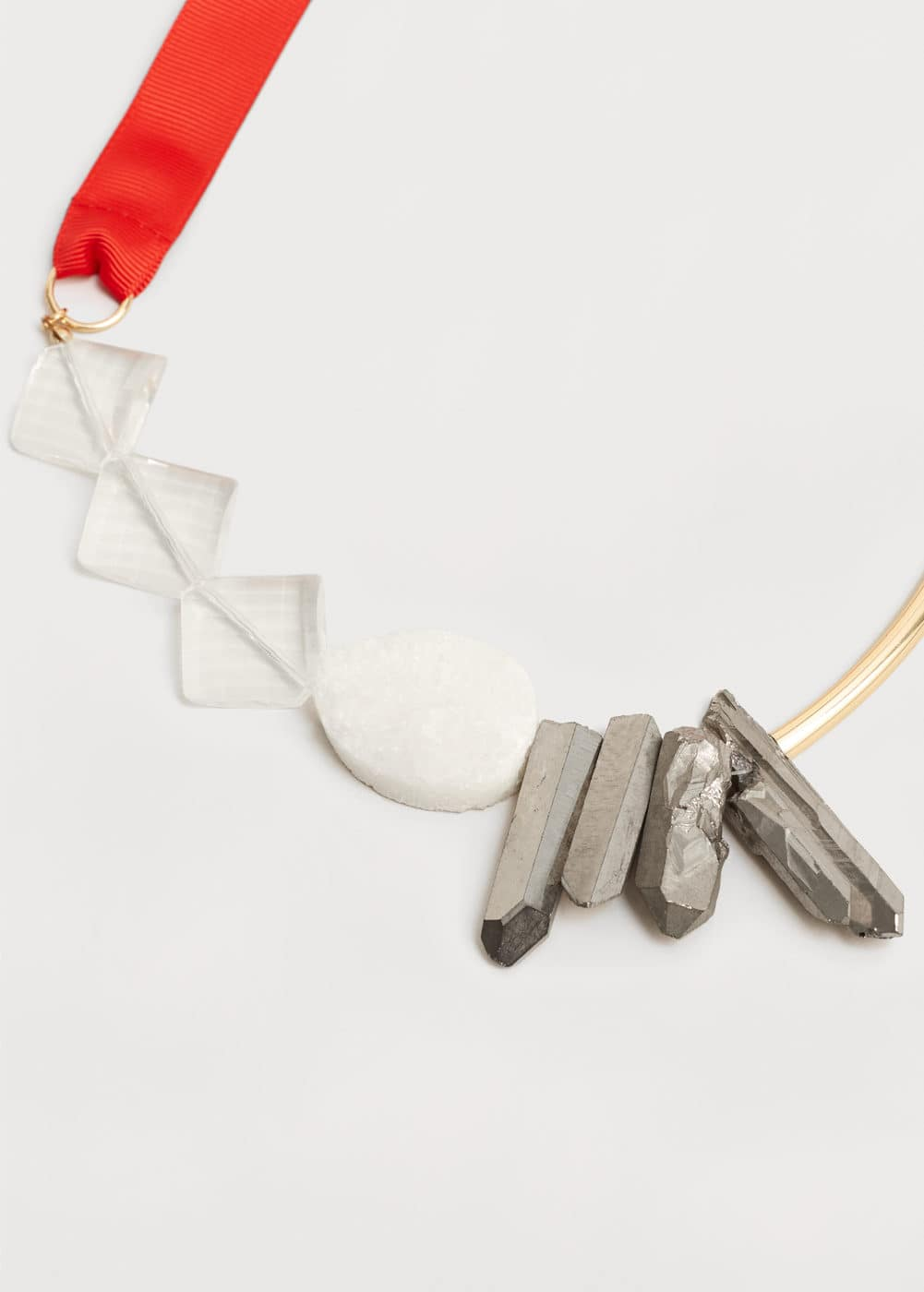 Bow crystals necklace | VIOLETA BY MNG