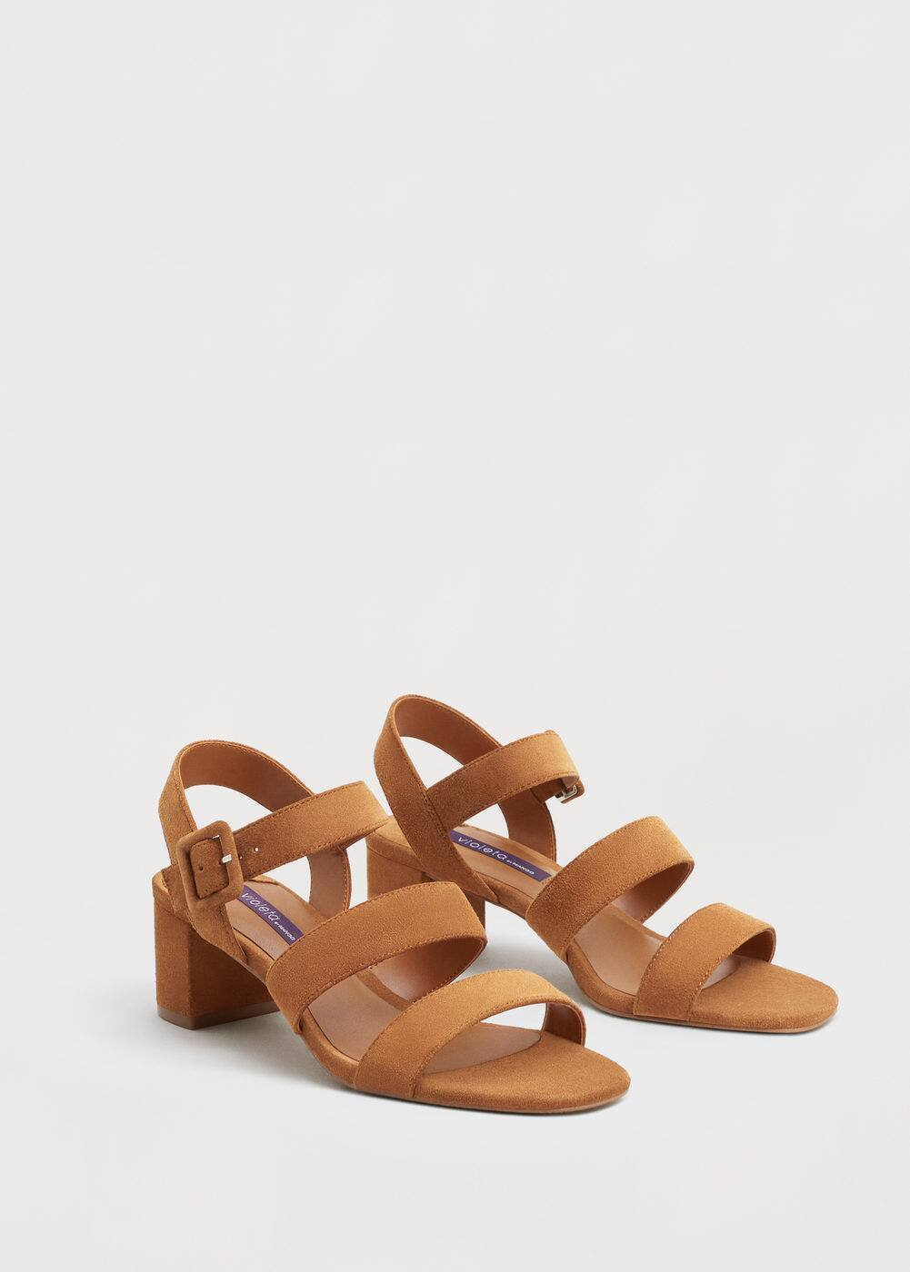 Leather straps sandals | VIOLETA BY MANGO