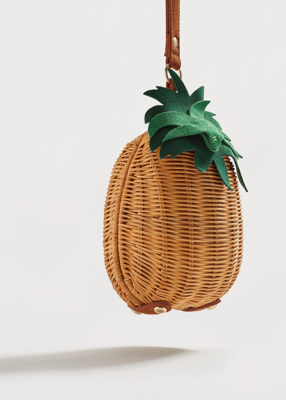 Pineapple raffia clutch | MANGO