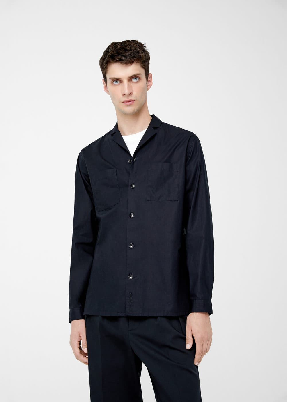 Regular-fit organic cotton shirt | MANGO