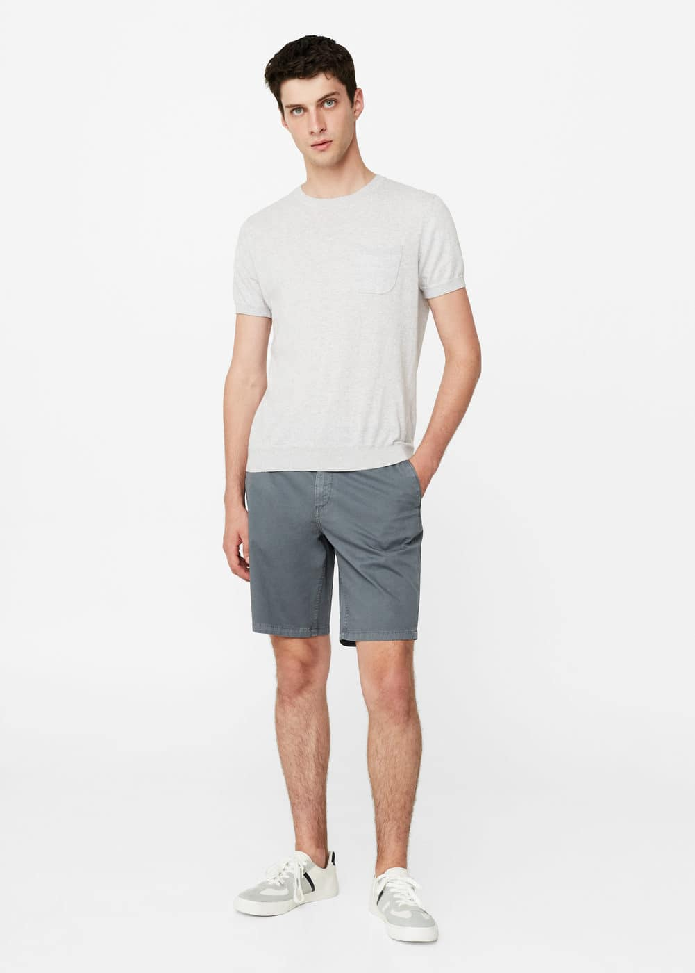 Cotton bermuda shorts | MANGO MAN