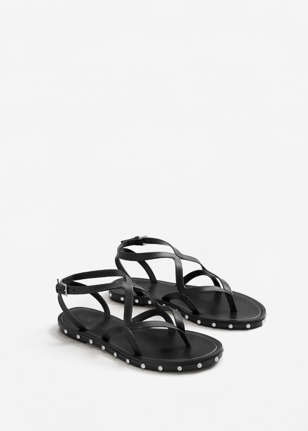 Leather strap sandals | MNG