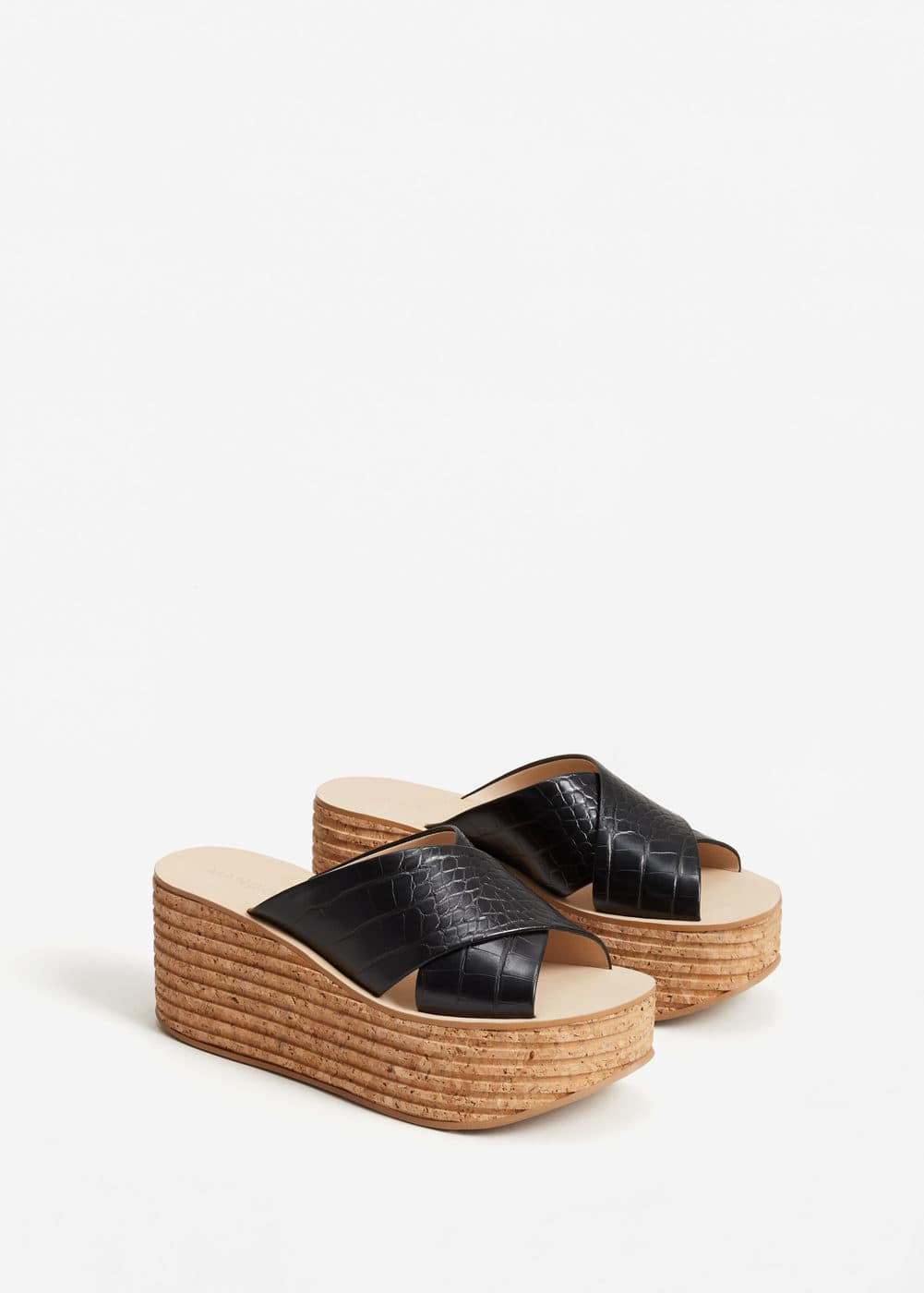 Criss-cross straps sandals | MANGO