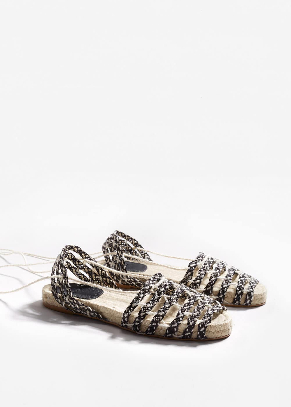 Lace-up braided espadrilles | MANGO