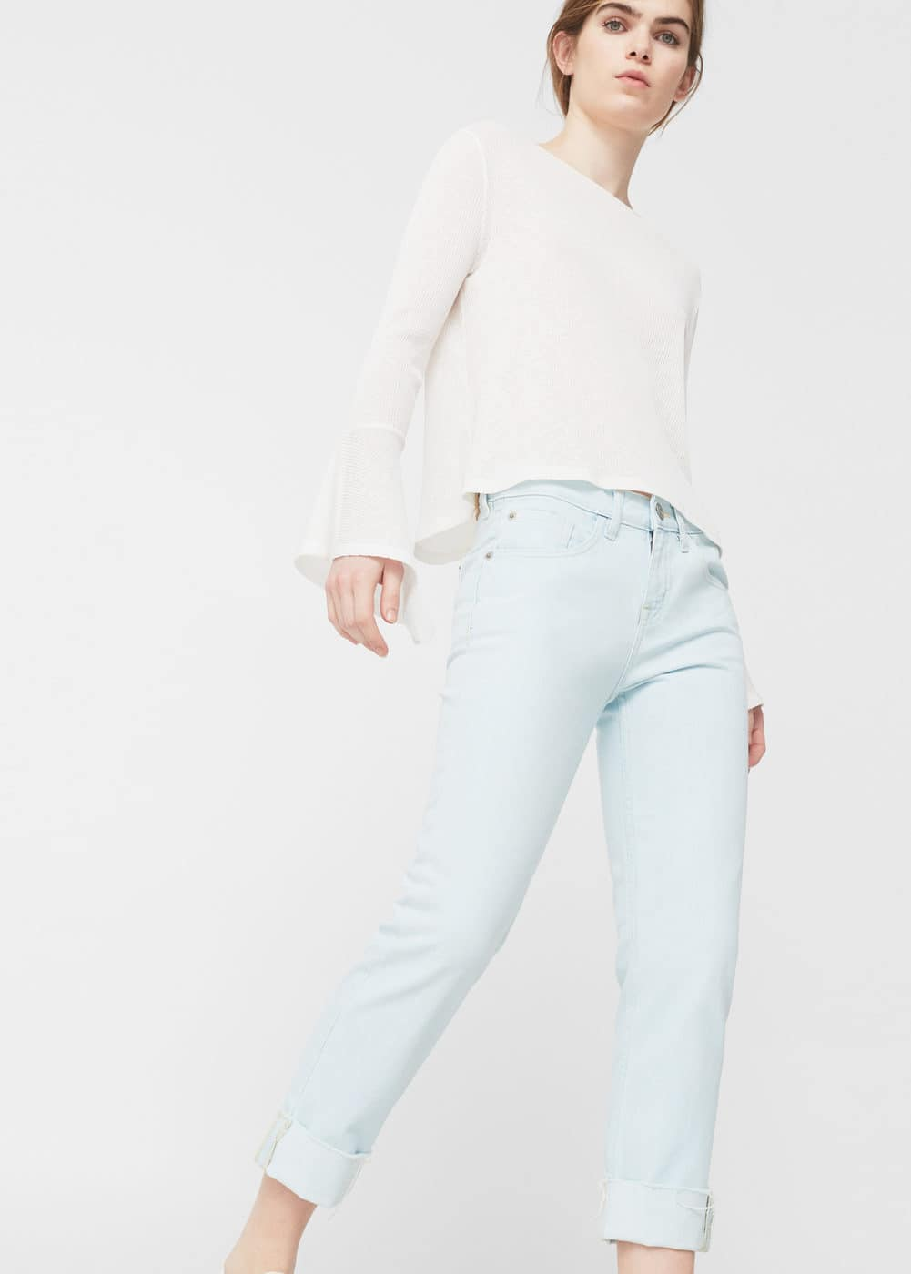 Relaxed crop cigar jeans | MANGO