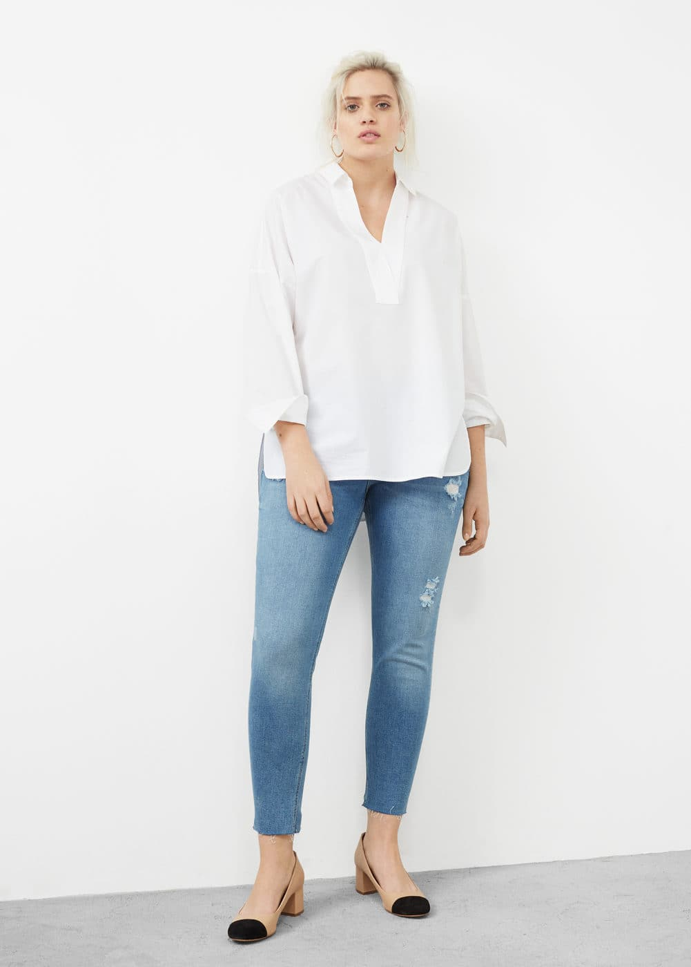 Super slim-fit andrea jeans | MANGO