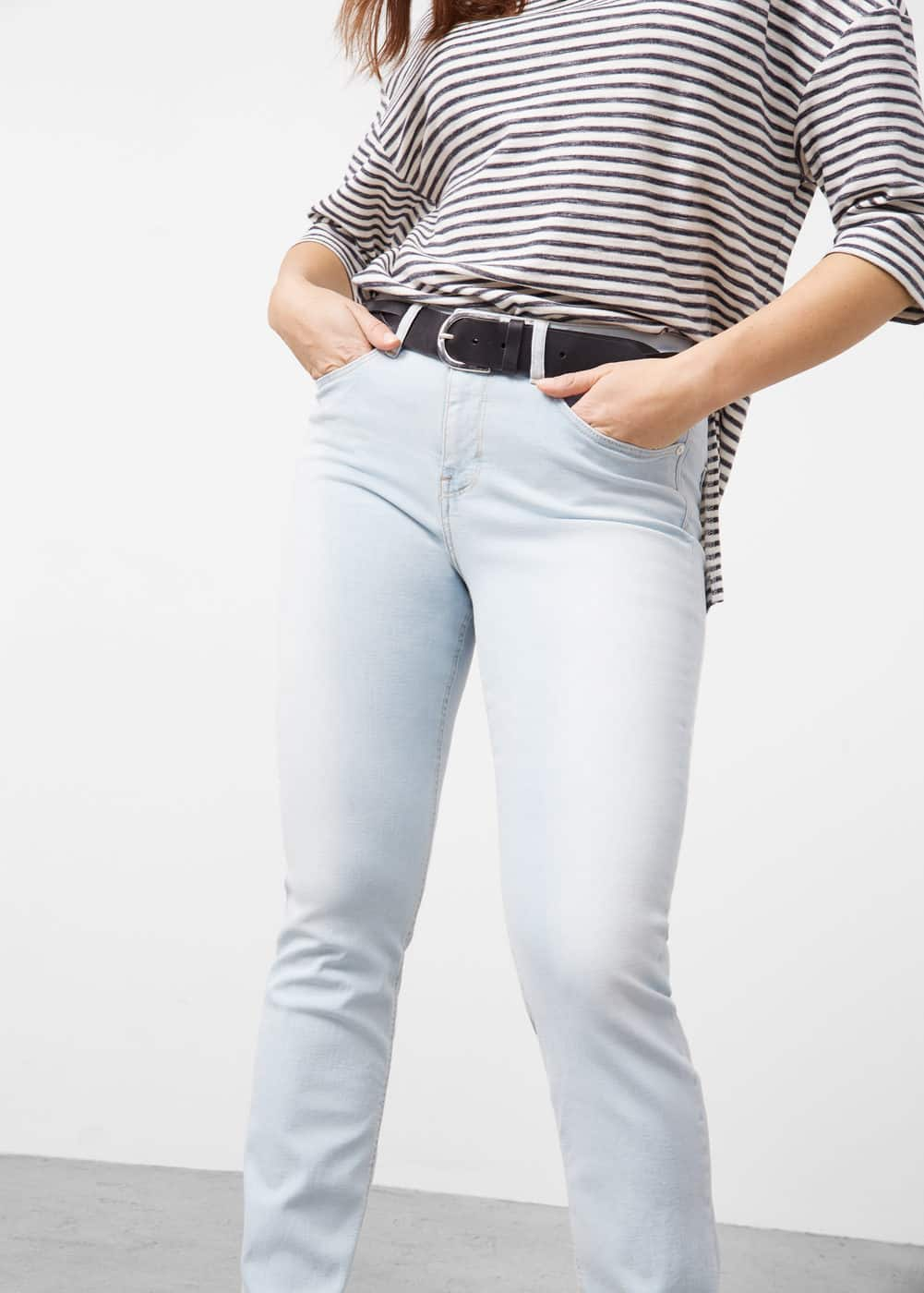 Slim-fit veri jeans | VIOLETA BY MANGO