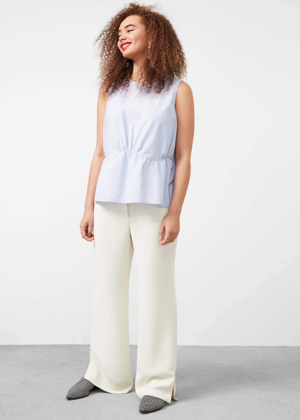 Ruched detail blouse | VIOLETA BY MANGO