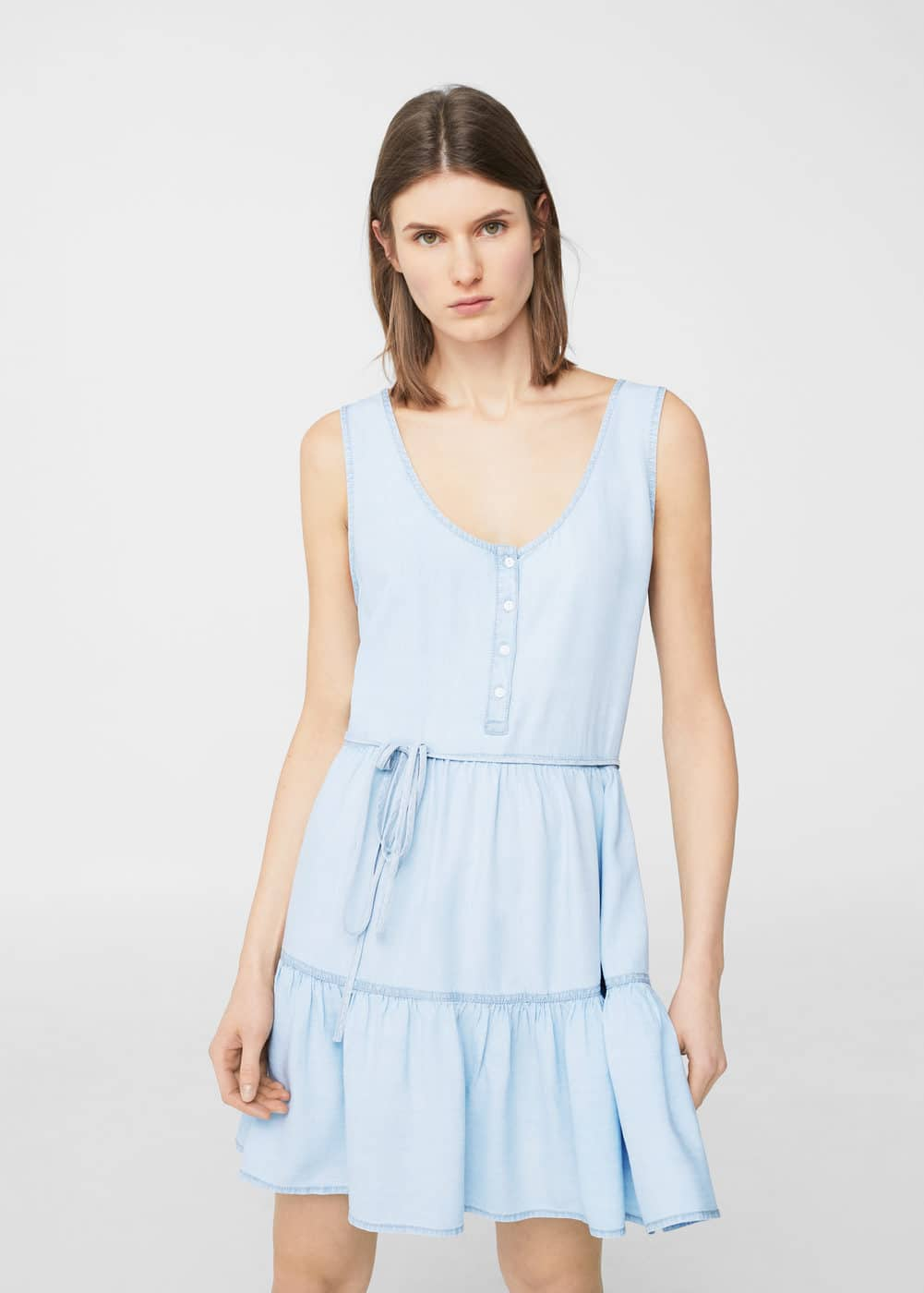 Frills denim dress | MANGO