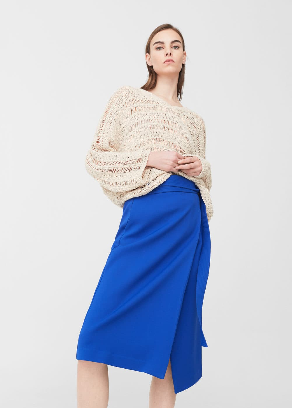 Openwork knit sweater | MNG