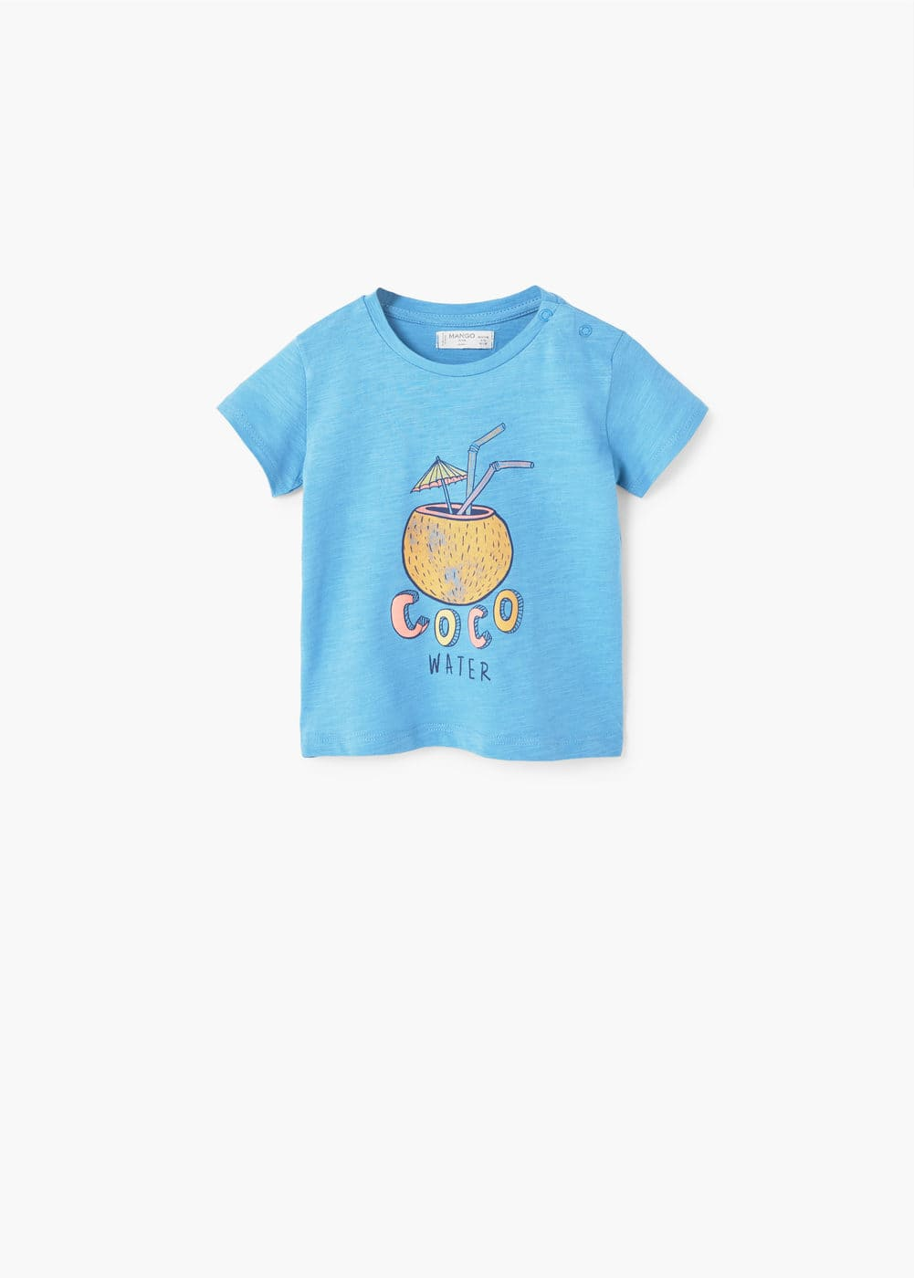 Embossed design t-shirt | MANGO KIDS