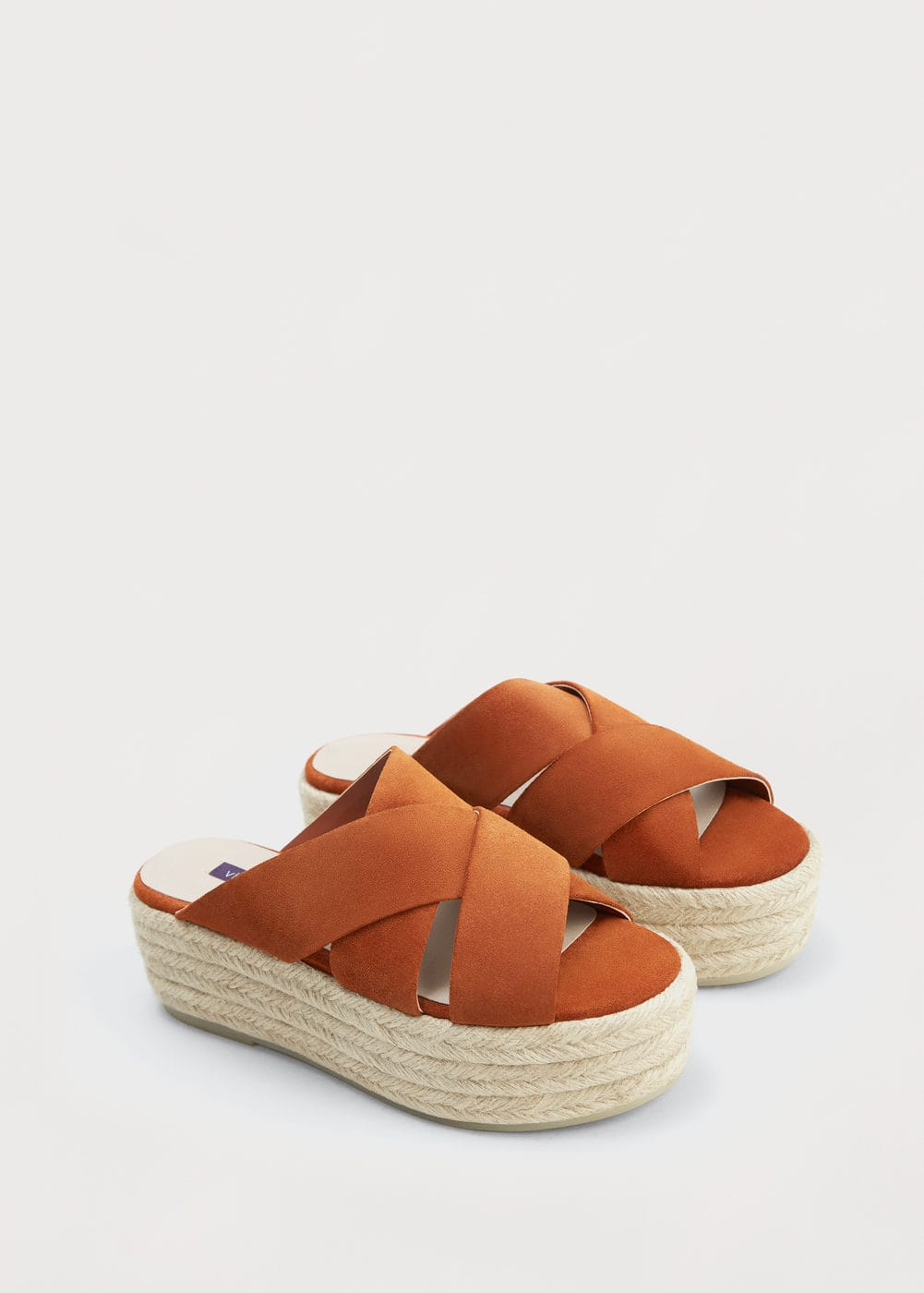 Platform leather sandals | VIOLETA BY MANGO
