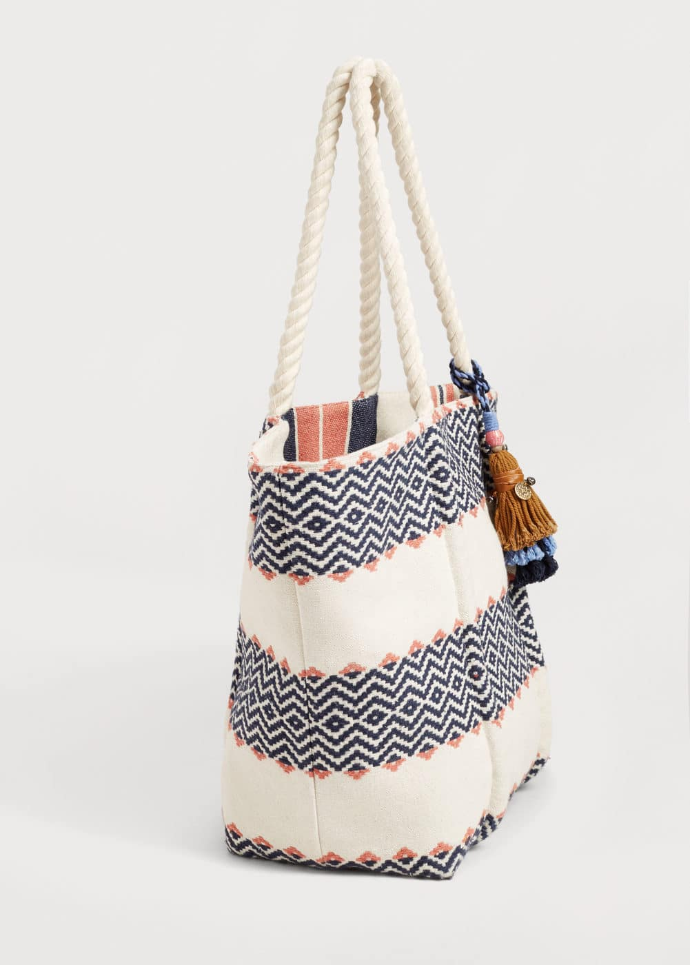 Reversible jacquard bag | MANGO