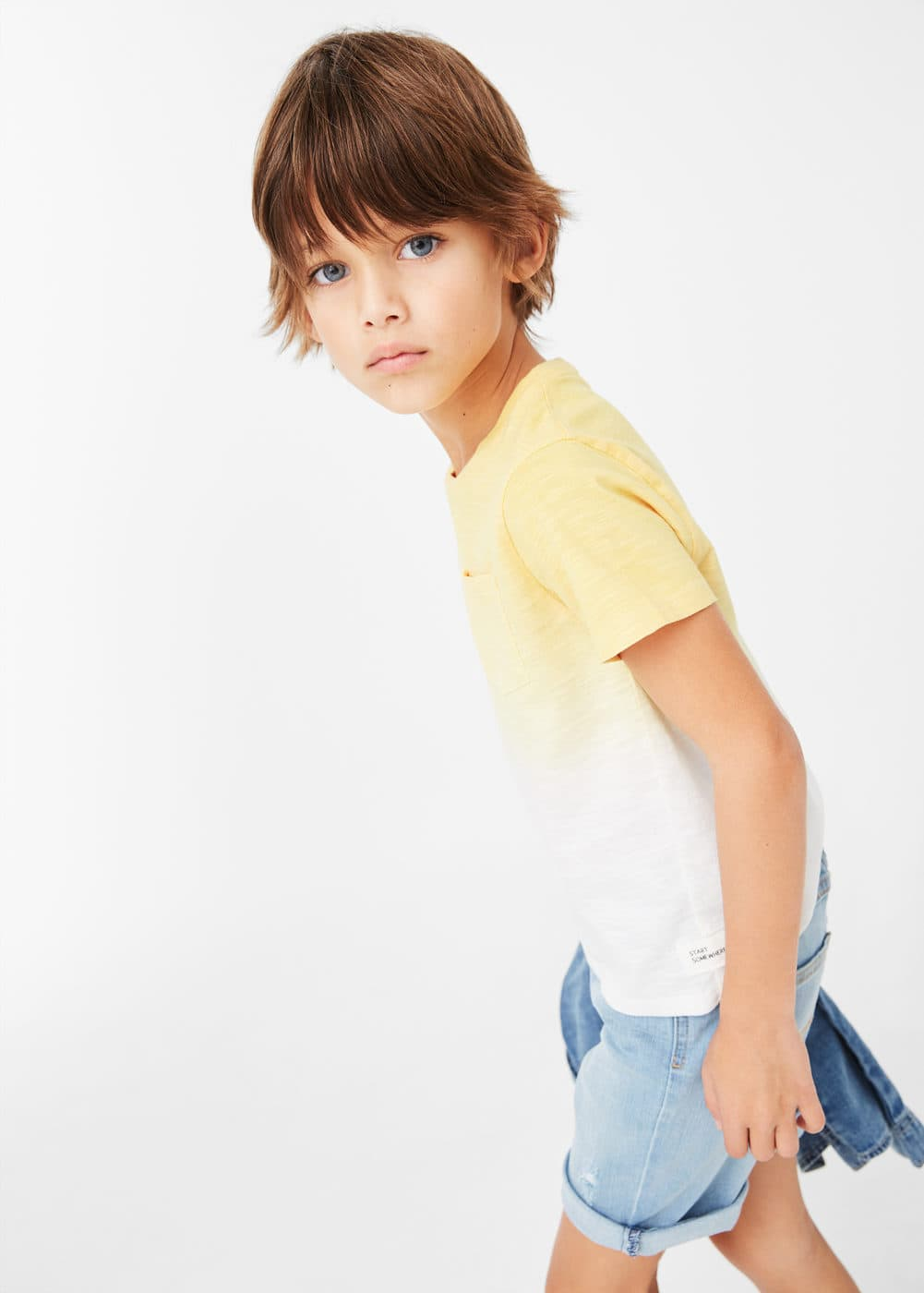 Flecked ombré t-shirt | MANGO KIDS