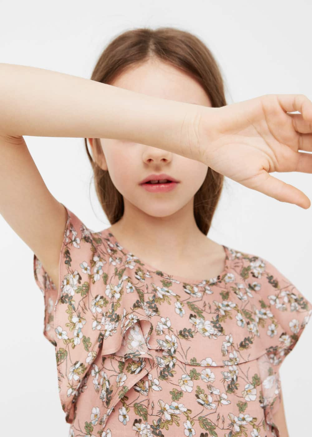 Ruffled printed dress | MANGO KIDS
