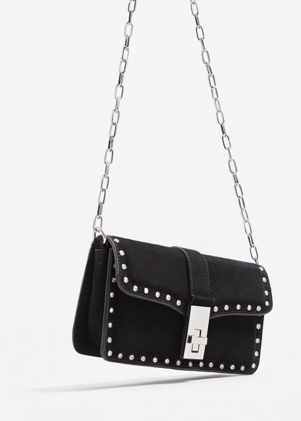 Chain leather bag | MANGO