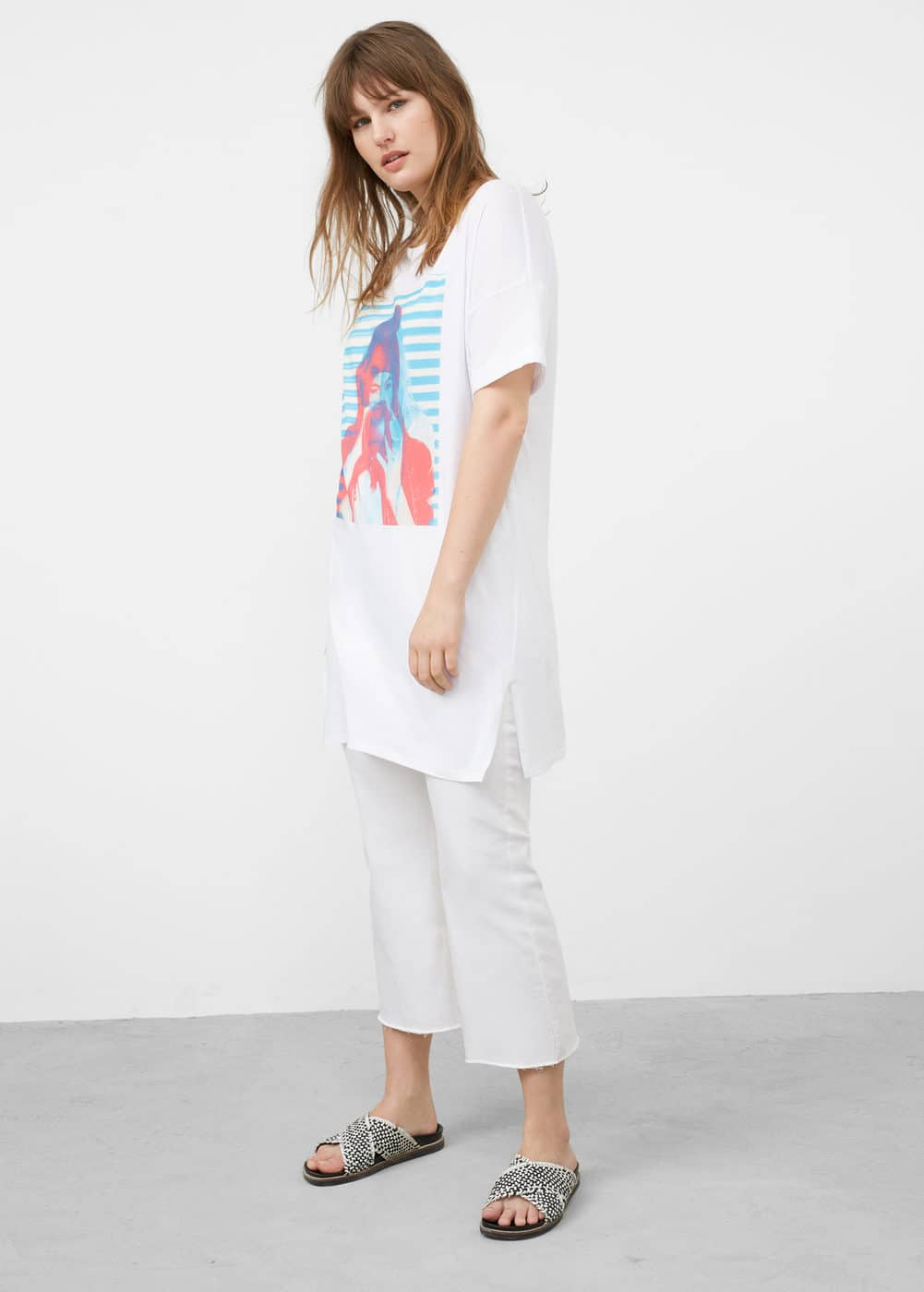 Image cotton t-shirt | MANGO