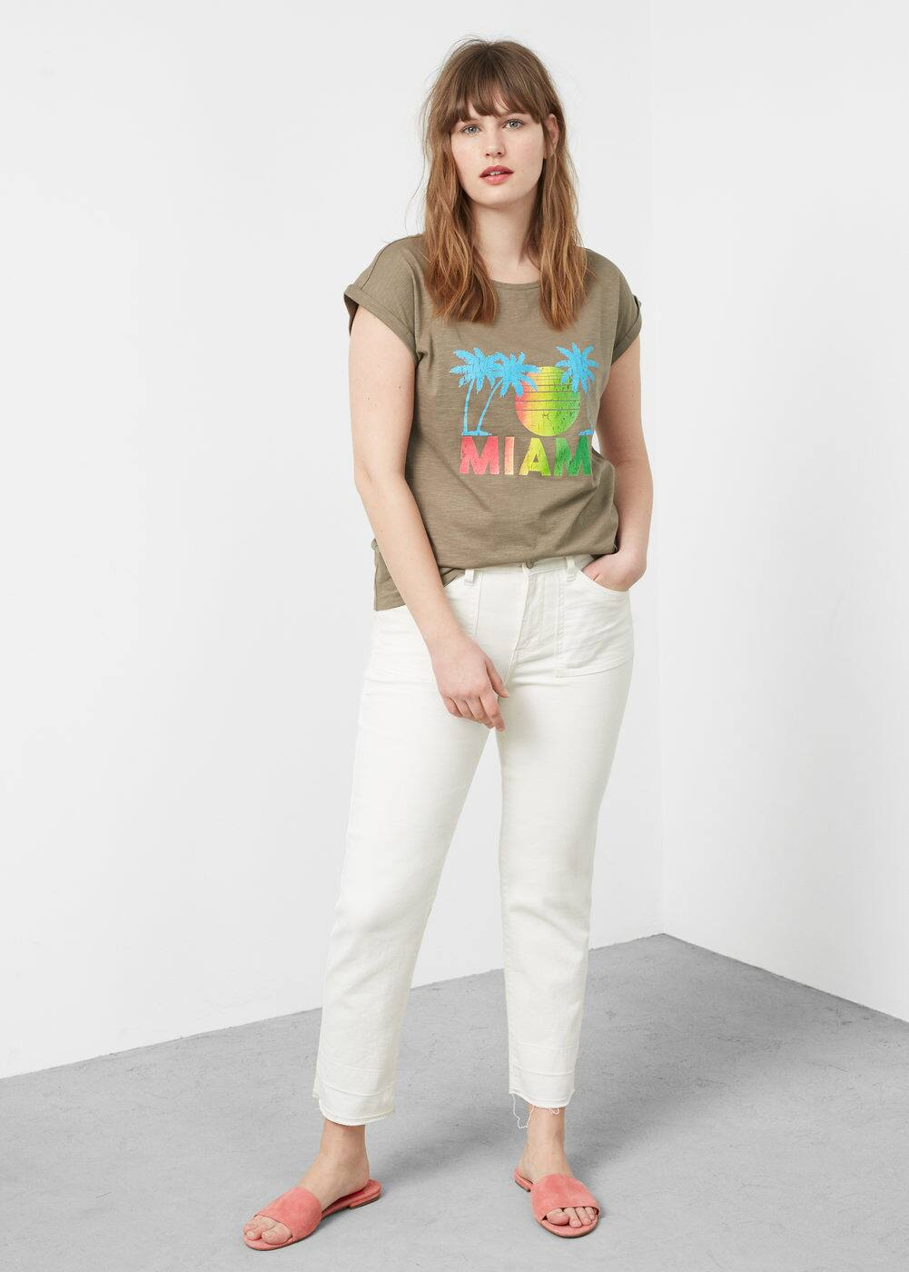 Palm image t-shirt | VIOLETA BY MANGO
