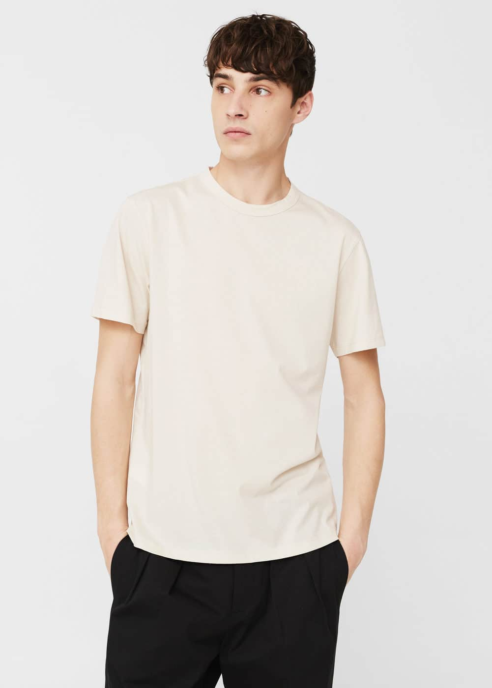 Oversize cotton t-shirt | MANGO MAN