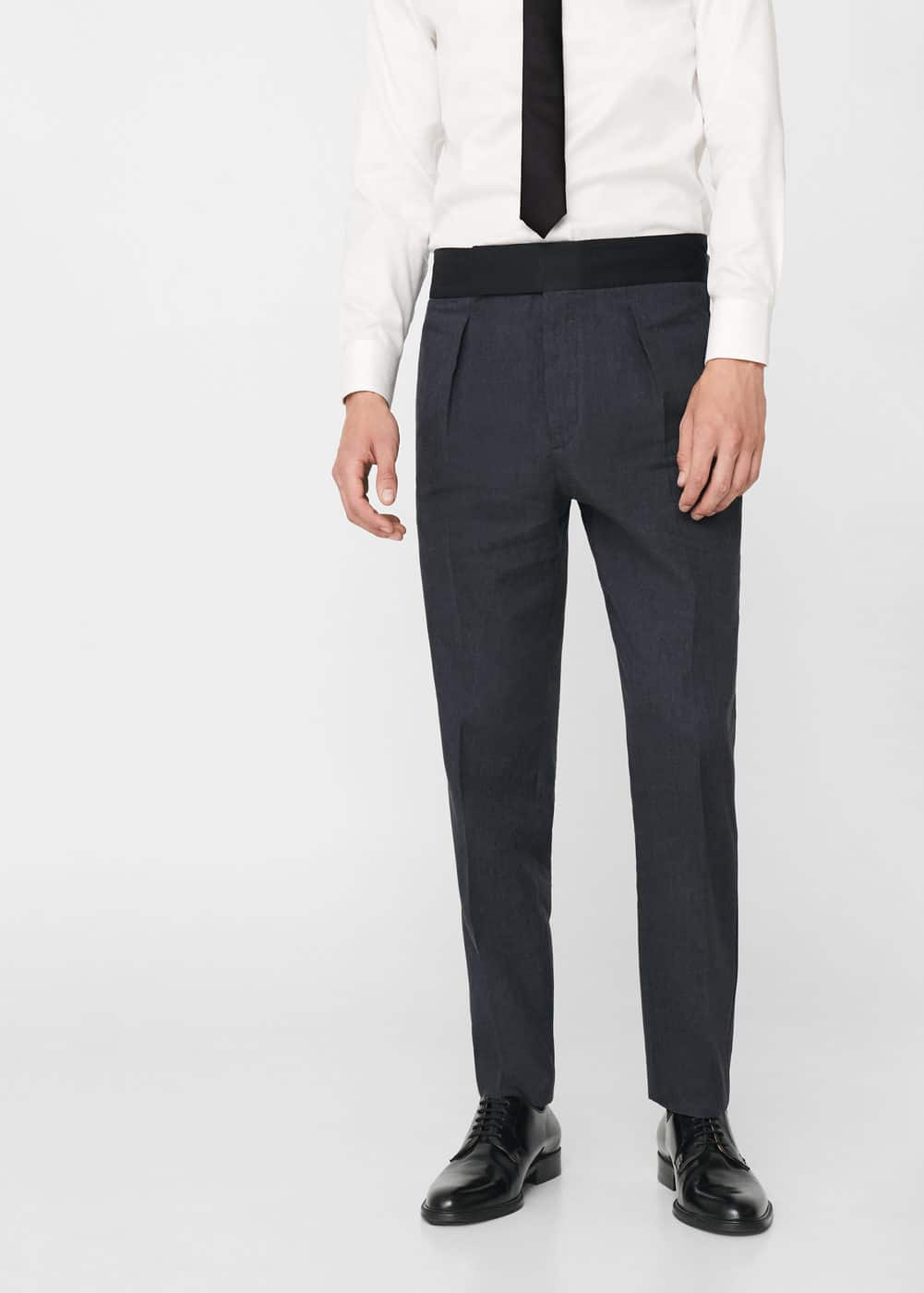 Slim-fit linen suit trousers | MANGO MAN