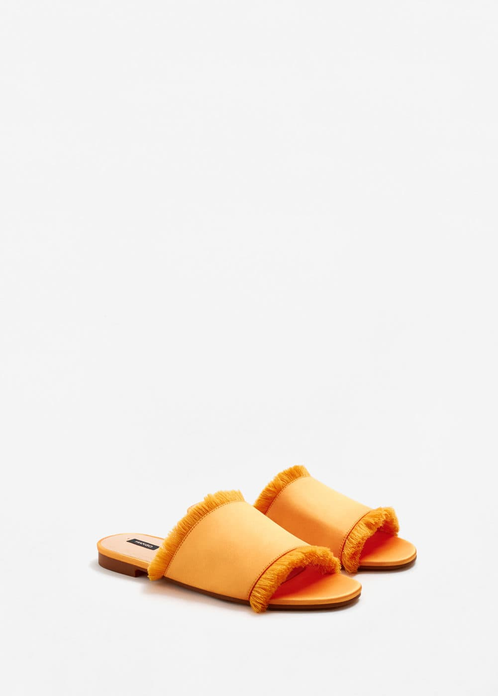 Fringe satin sandals | MANGO