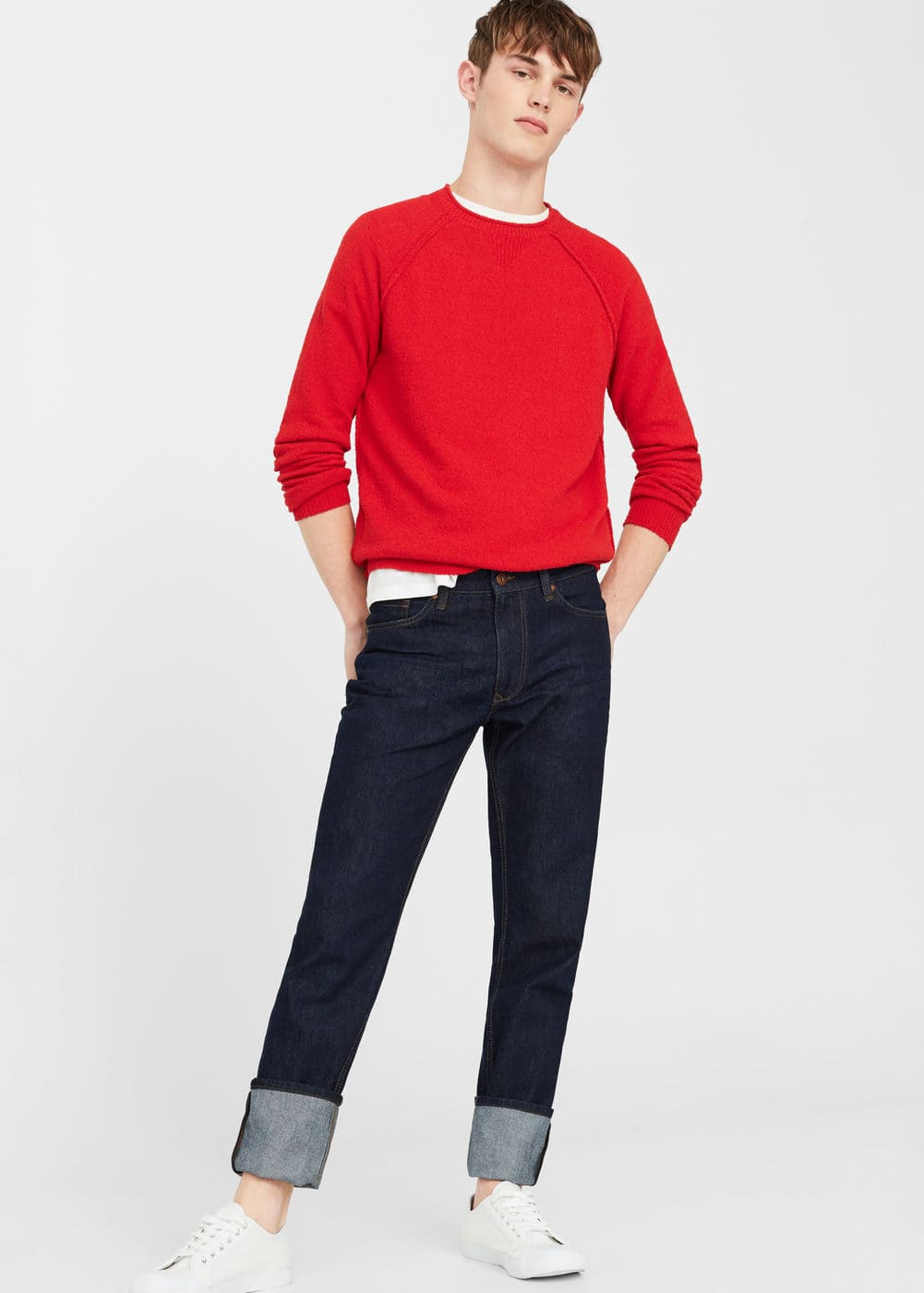 Jeans bob straight-fit oscuros | MANGO MAN