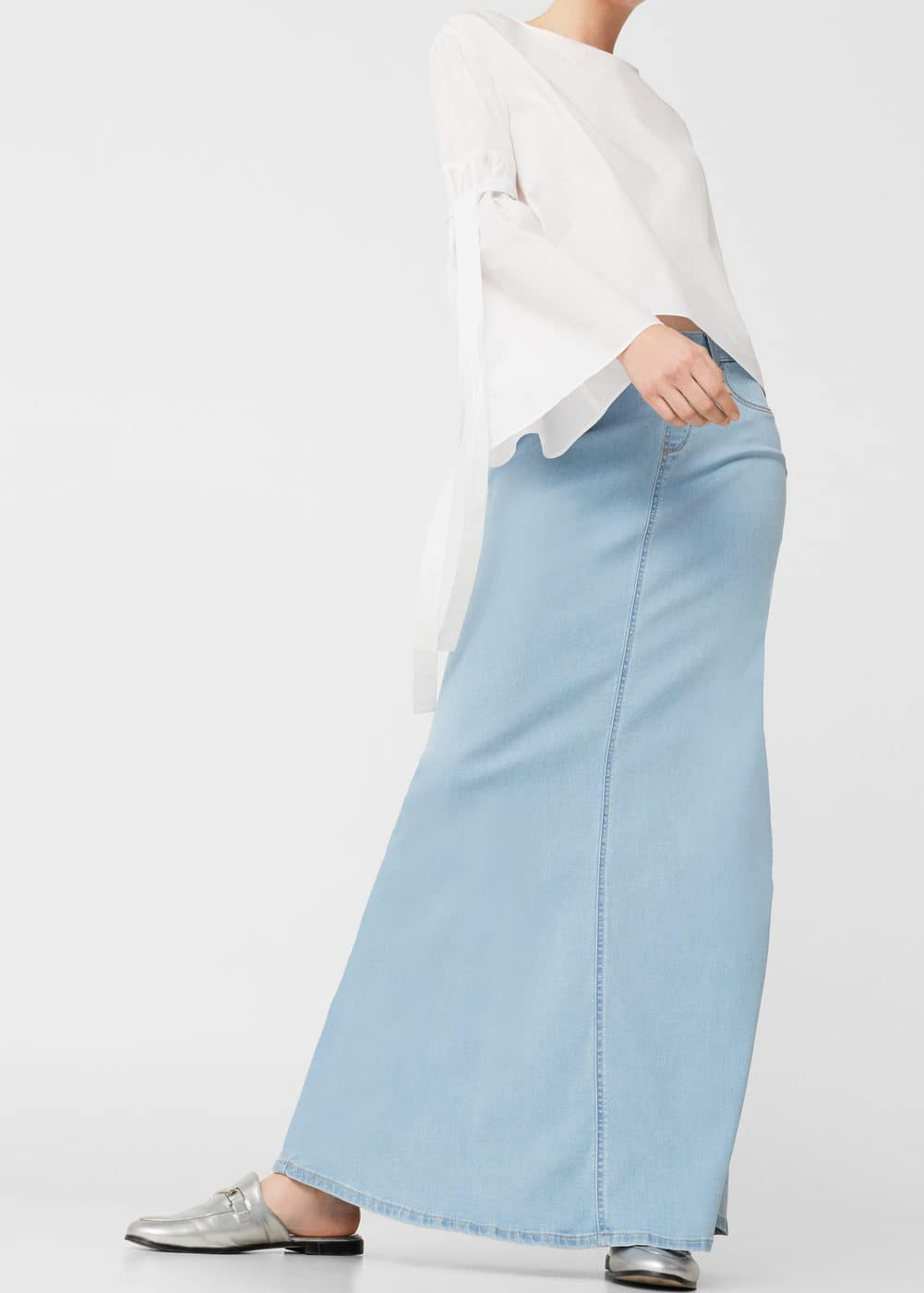 Denim long skirt | MANGO