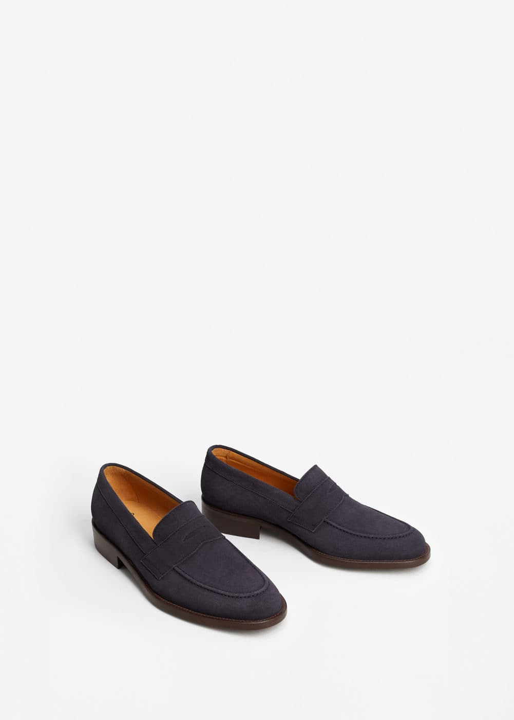 Suede penny loafers | MANGO