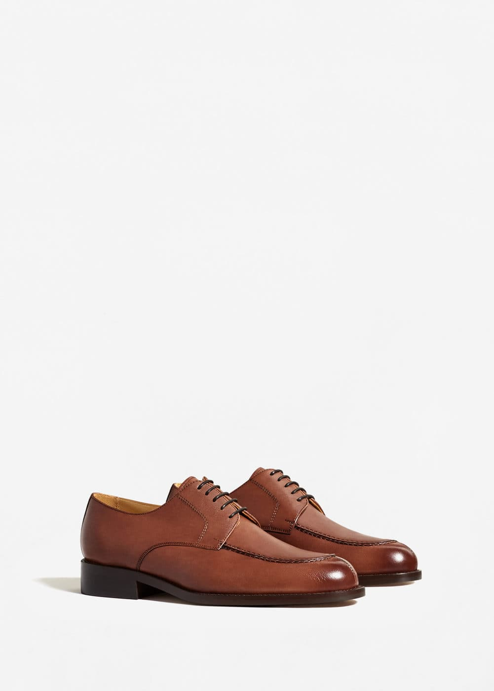 Leather blucher | MANGO MAN