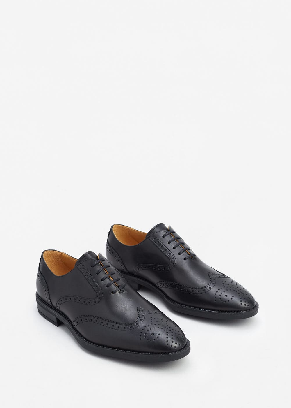 Leather oxford shoes | MANGO MAN