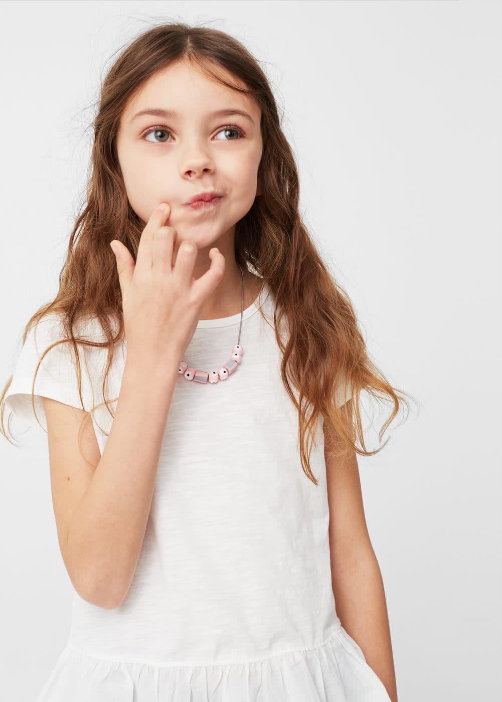 Flecked peplum t-shirt | MANGO KIDS