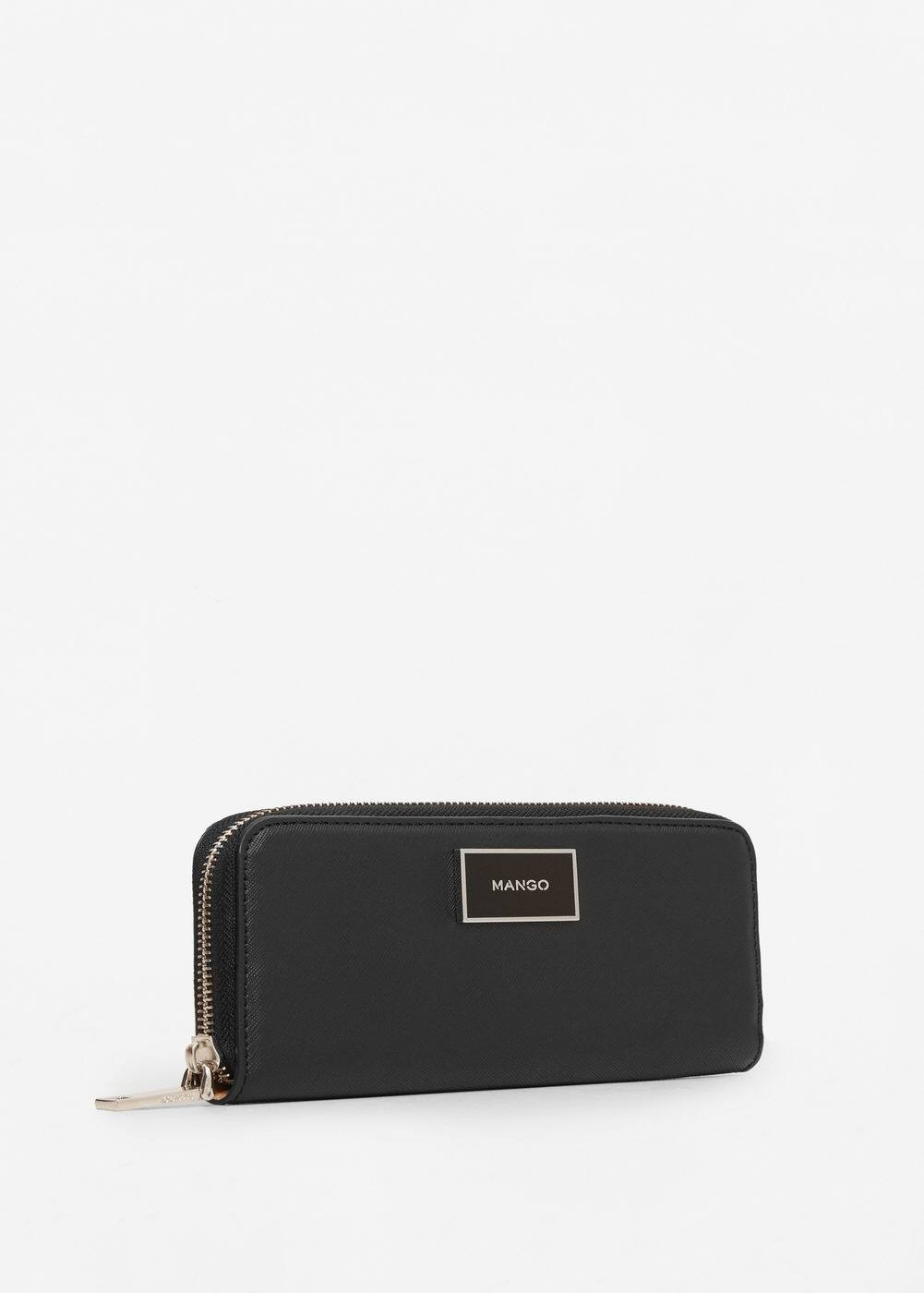Zip saffiano-effect wallet | MANGO