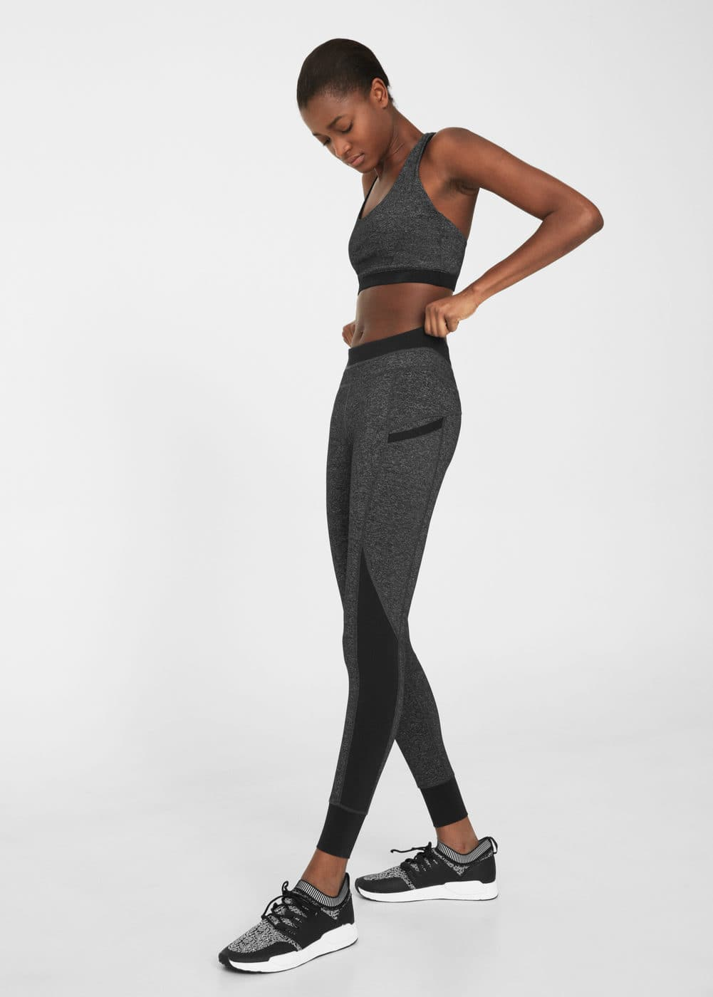 Decorative trim leggings | MANGO