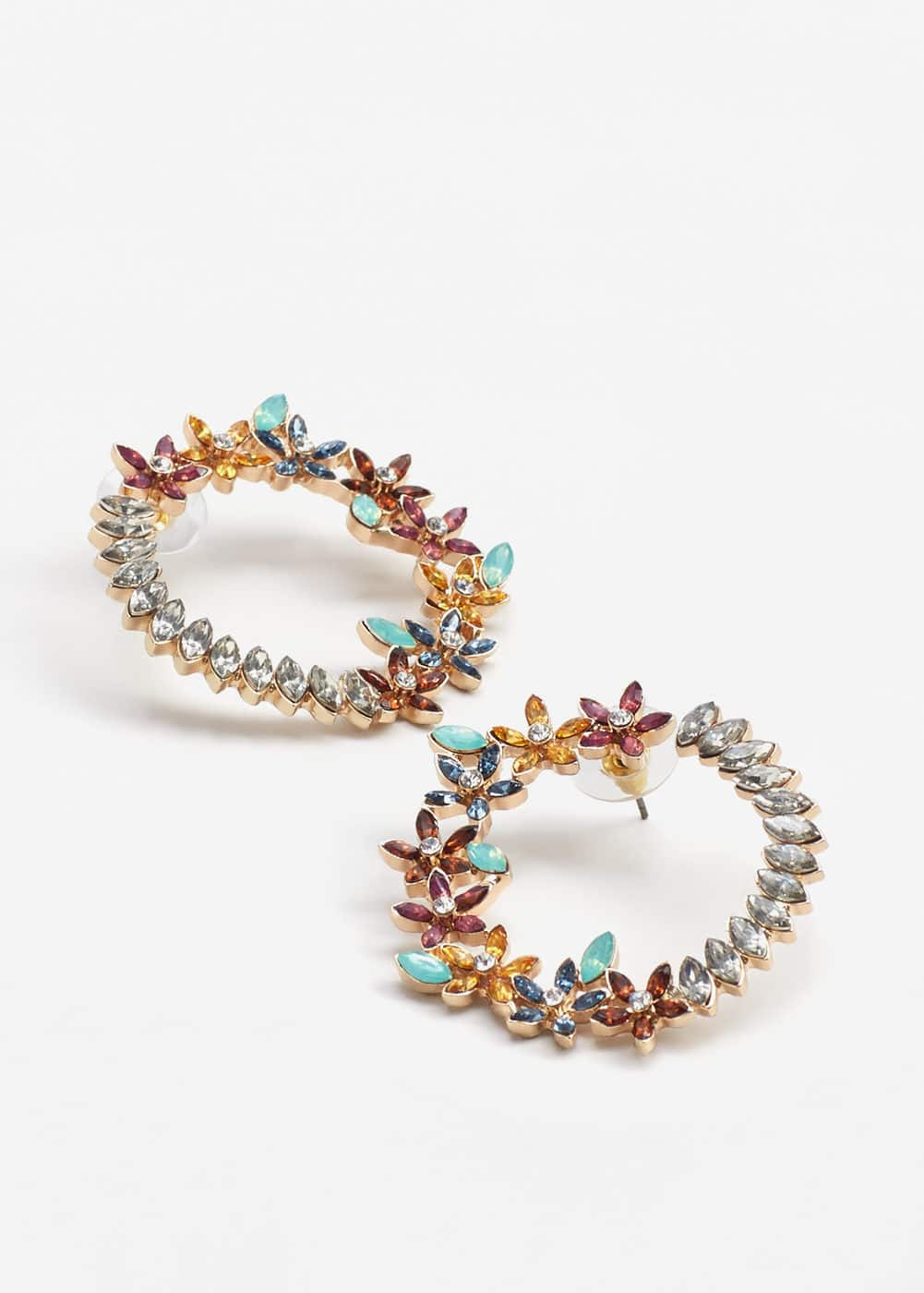 Hoop flower earrings | MANGO