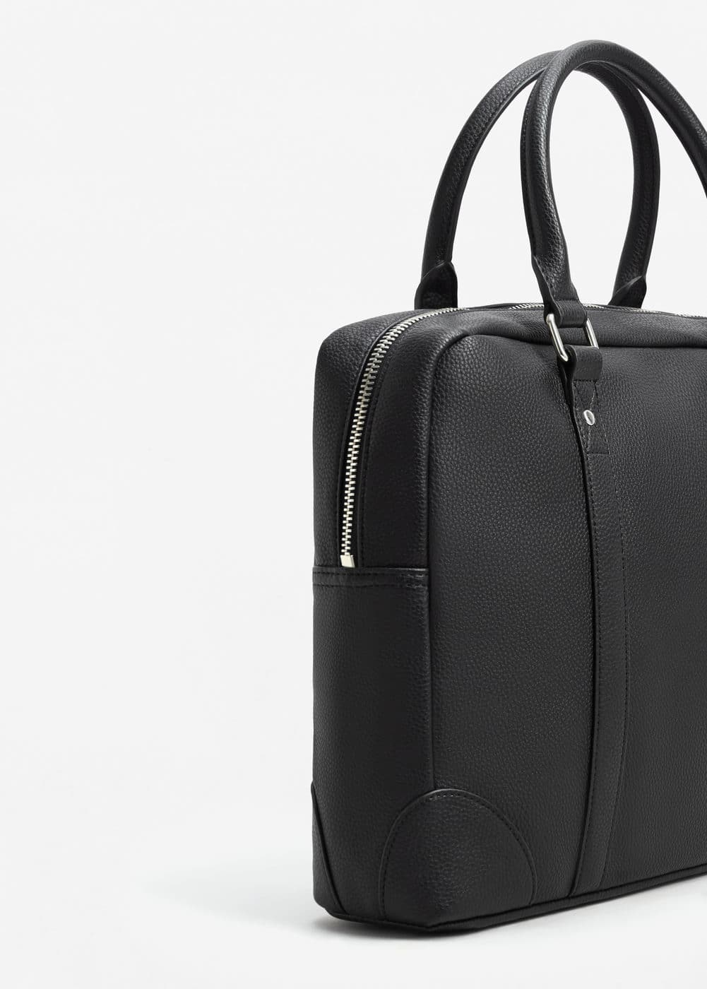 Pebbled briefcase | MANGO MAN