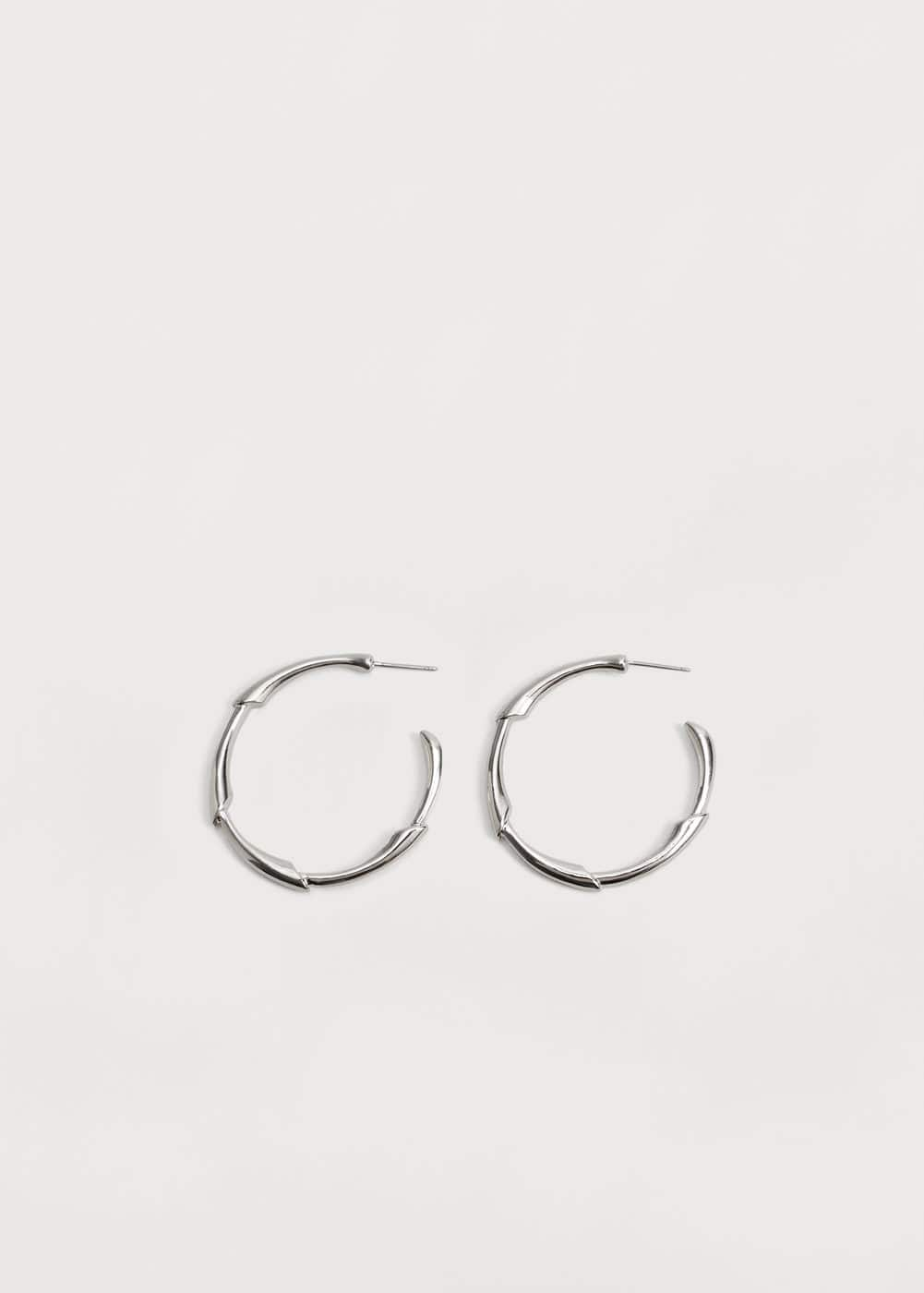 Embossed hoop earrings | MANGO
