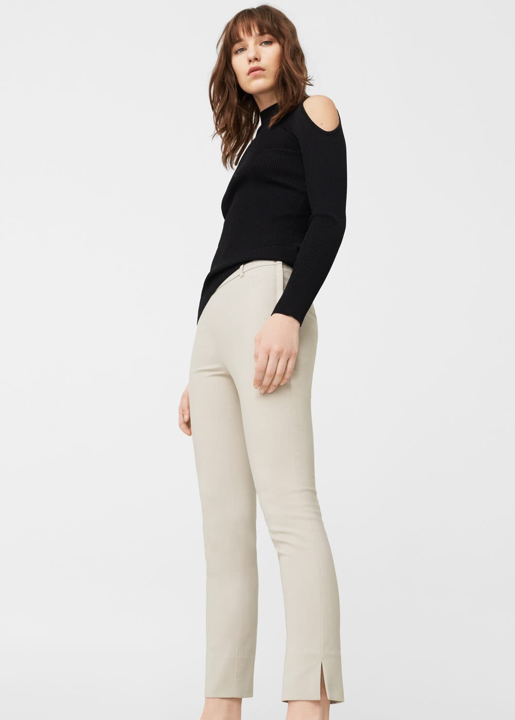 Pantalon cigarette crop | MANGO