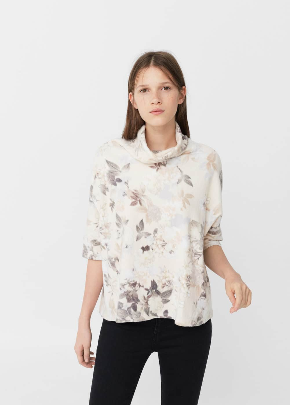 Floral sweater | MANGO