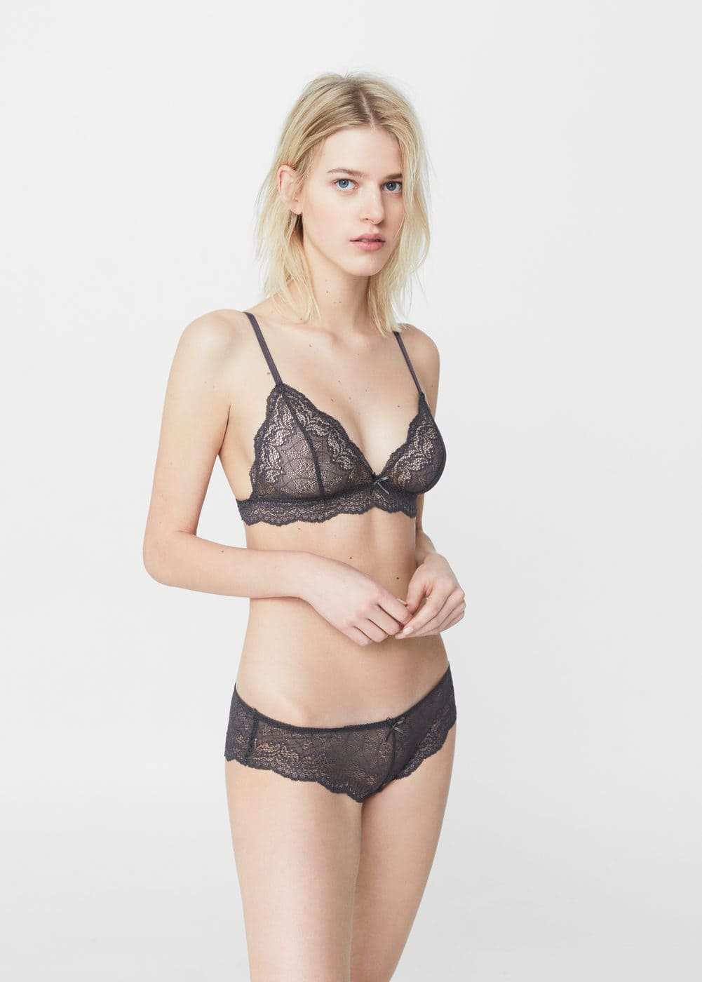 Triangle lace bra | MNG