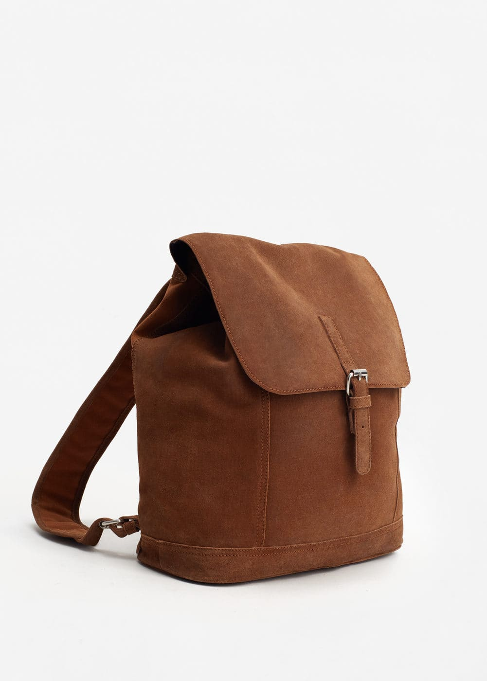 Lapel suede backpack | MANGO MAN