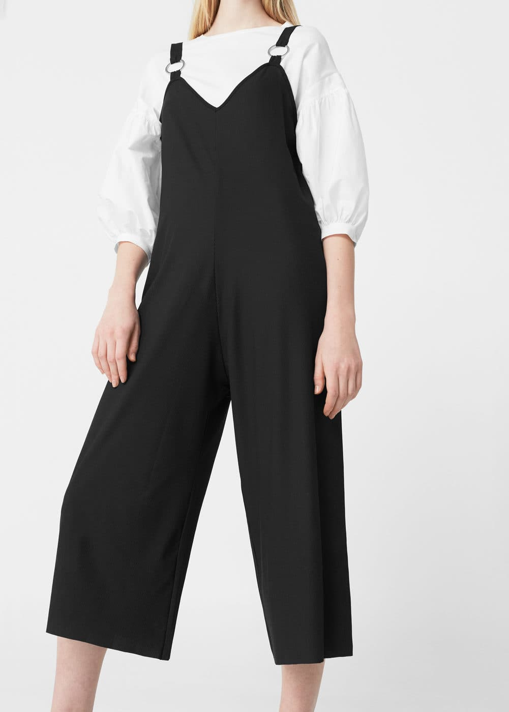 Metallic appliqué jumpsuit | MANGO