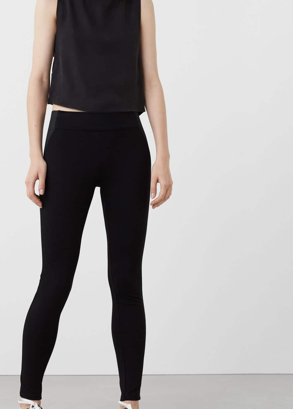 Elastic panels leggings | MANGO