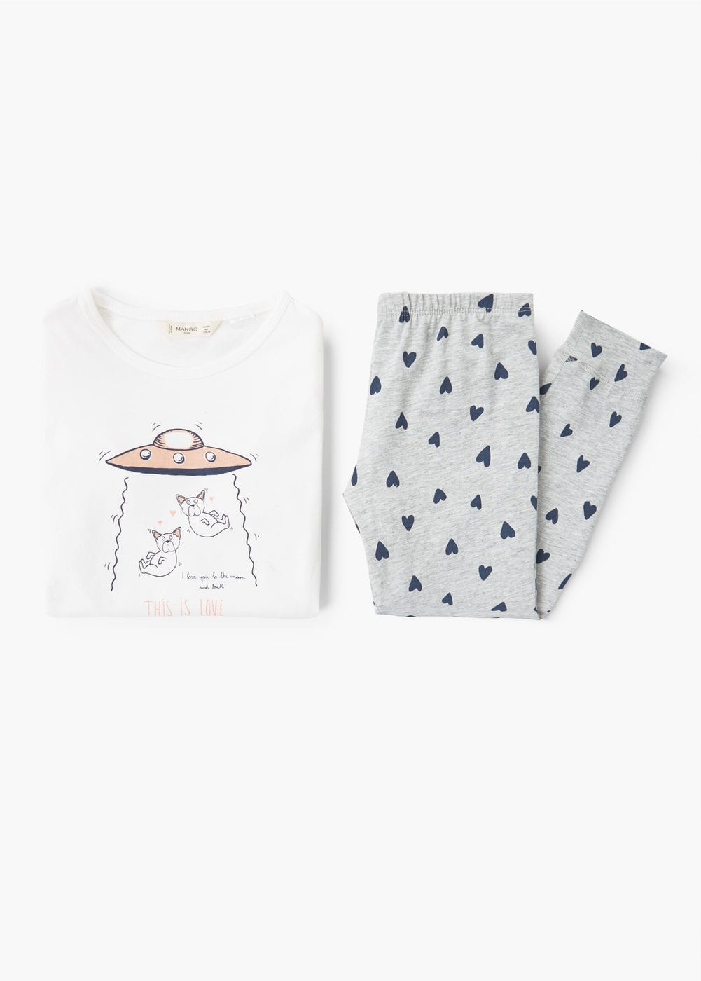Pijama largo estampado | MANGO KIDS