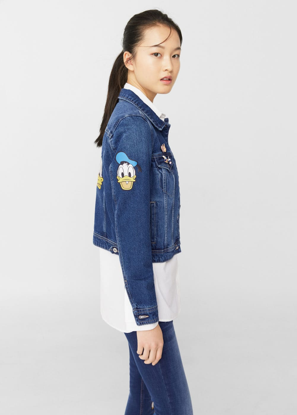 Patch dark denim jacket | MANGO