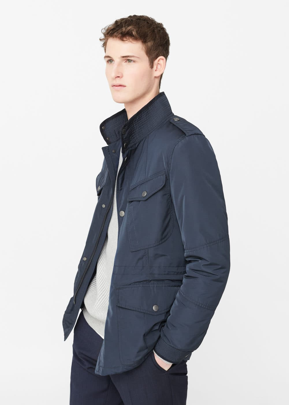 Quilted field jacket | MANGO MAN
