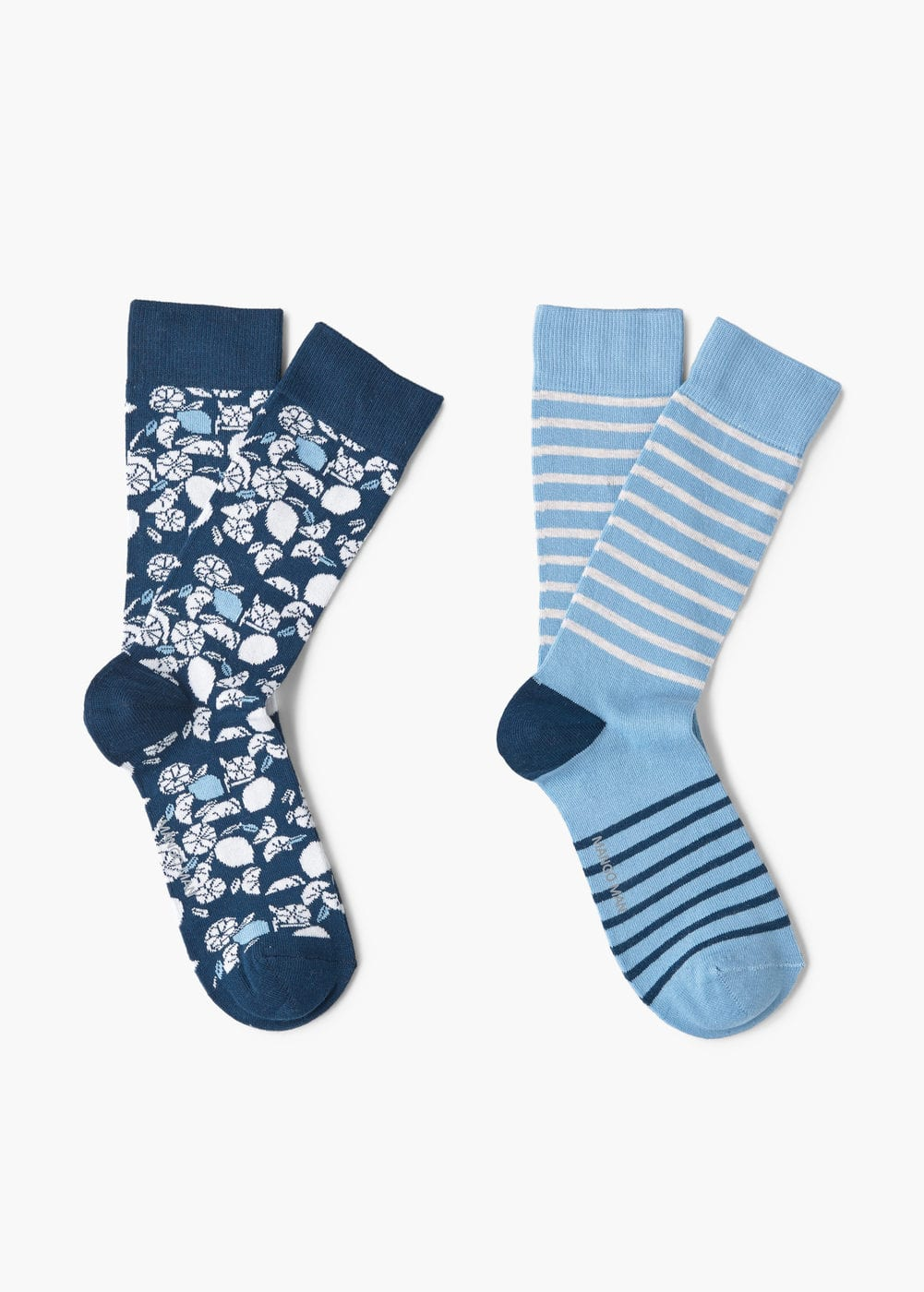 2 pack patterned socks | MANGO MAN