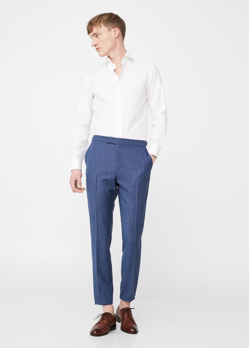 Slim-fit cool wool suit trousers | MANGO